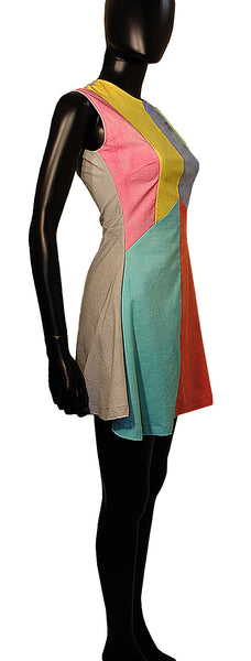african inspired - color block sundress - herbert victoria - elevin - 4