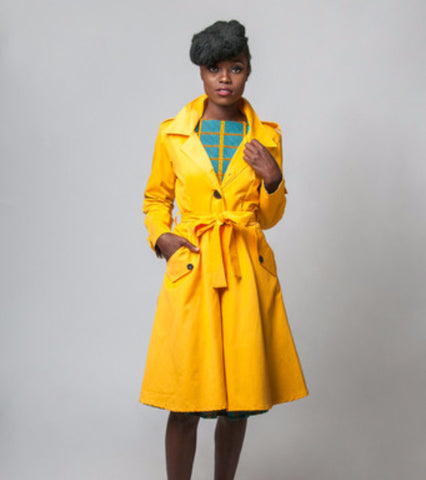 yellow abena dress coat - Kaela Kay - main