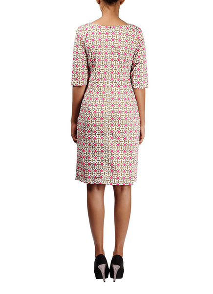 geometrical printed shift dress - Michelle Salins - back