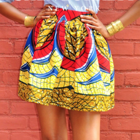 vibrant yellow bianca mini skirt - Chen Burkett - main