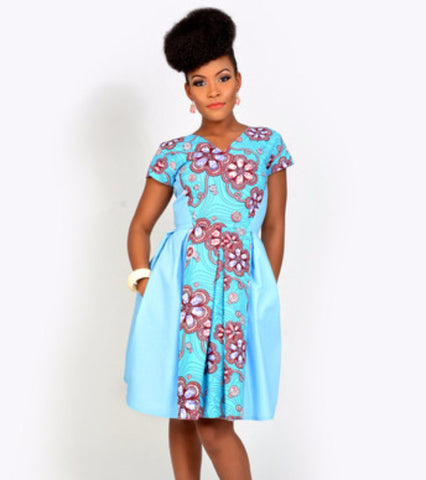 sky blue date night dress - kaela kay - main