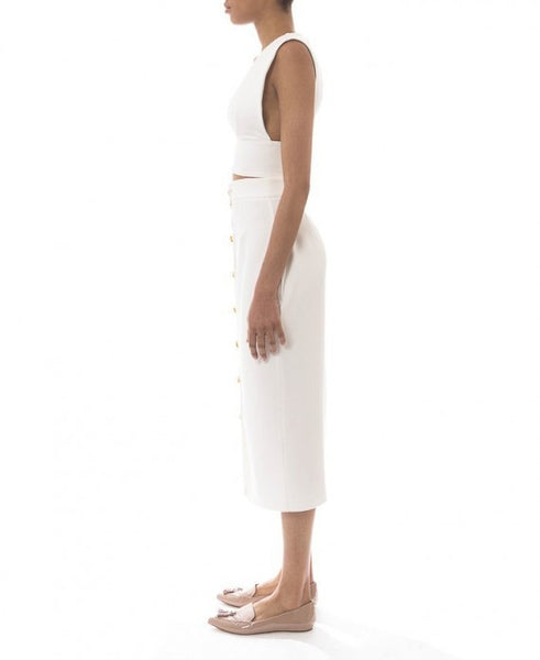 white pencil skirt - anaya - Kyna Collection - 2