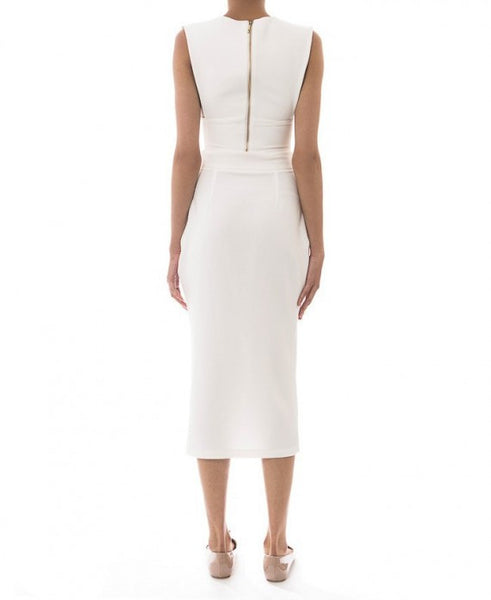 white pencil skirt - anaya - Kyna Collection - back