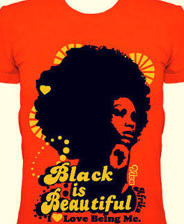Orange Black is Beautiful Shirt - Three Little Birds - main
