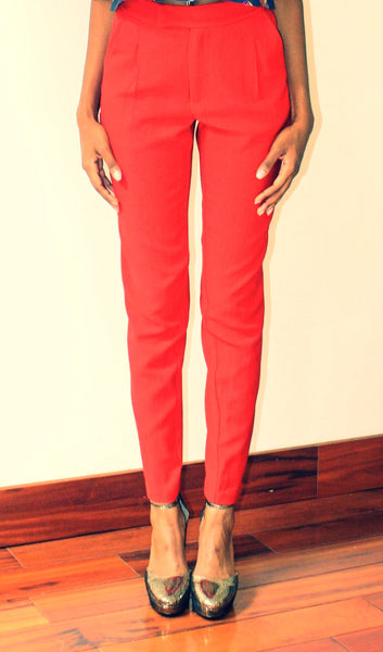 Red skinny pants - Undra Celeste New York - 2