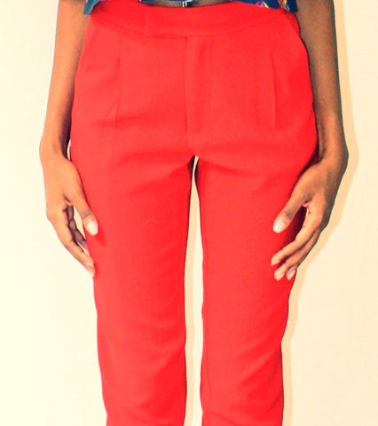 Red skinny pants - Undra Celeste New York - main