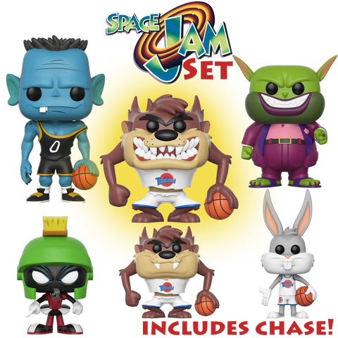 (PREORDER) POP! Movies: Space Jam - Space Jam Movie Set (Includes Chase)