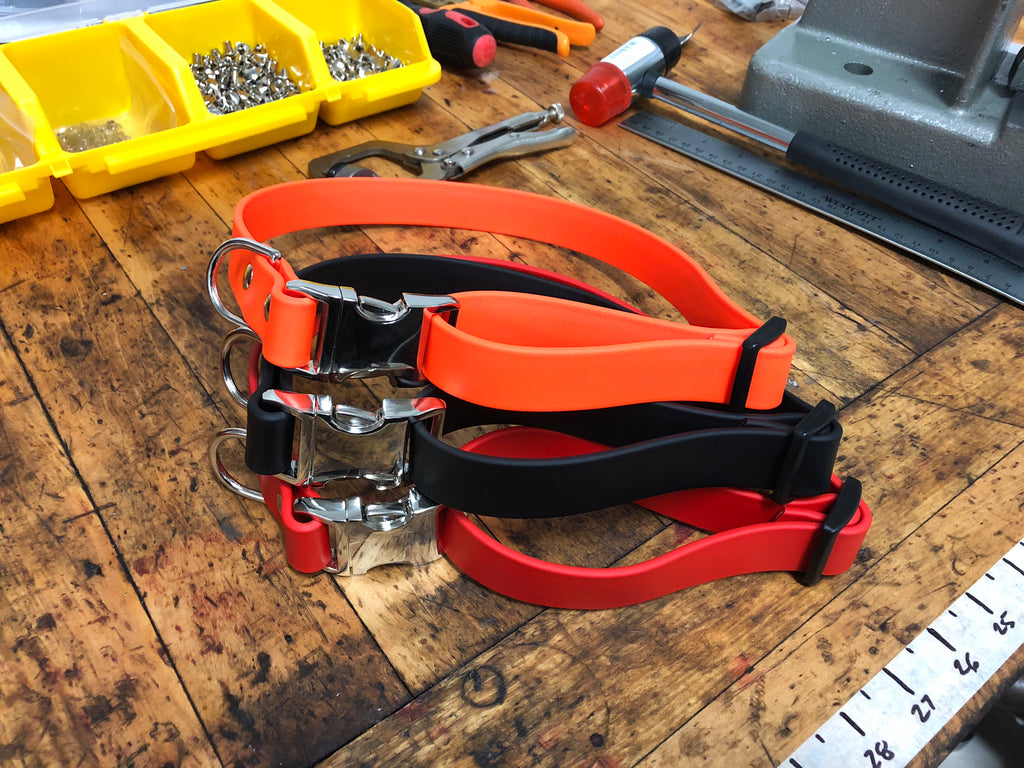 Argos Gear Orange BioThane Aluminum Buckle Collar - Collars - Argos Dog Gear - Made in the USA - Guaranteed for Life - Ready for Every Adventure - Copyright all rights reserved