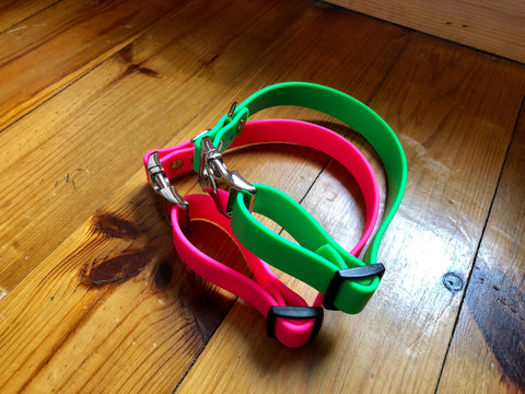 Argos Gear Lime Green BioThane Aluminum Buckle Collar - Collars - Argos Dog Gear - Made in the USA - Guaranteed for Life - Ready for Every Adventure - Copyright all rights reserved