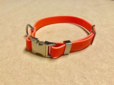 Argos Gear Orange Cretan Buckle Dog Collar - Collars - Argos Dog Gear - Made in the USA - Guaranteed for Life - Ready for Every Adventure - Copyright all rights reserved