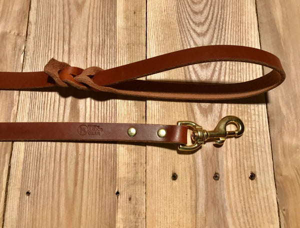 Argos Gear Classic Leather Dog Leash - Leashes - Argos Dog Gear - Made in the USA - Guaranteed for Life - Ready for Every Adventure - Copyright all rights reserved