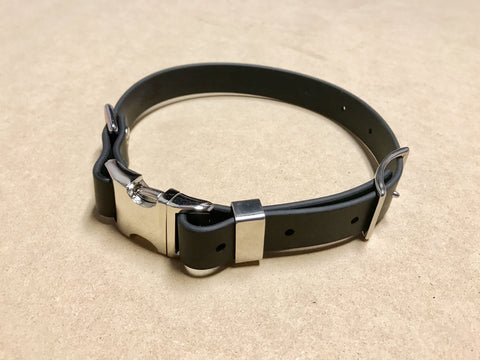 Argos Gear Black Cretan Buckle Dog Collar - Collars - Argos Dog Gear - Made in the USA - Guaranteed for Life - Ready for Every Adventure - Copyright all rights reserved