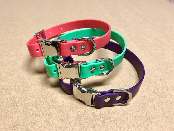 Argos Gear Pink Cretan Buckle Dog Collar - Collars - Argos Dog Gear - Made in the USA - Guaranteed for Life - Ready for Every Adventure - Copyright all rights reserved