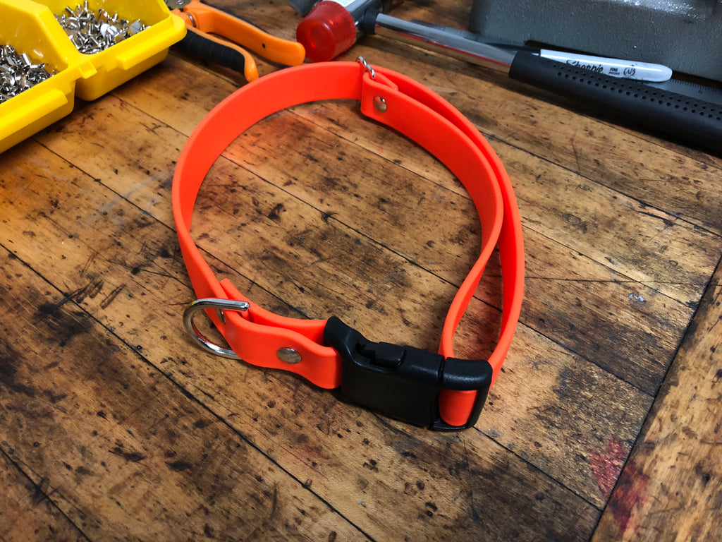 Argos Gear Orange BioThane YKK Plastic Buckle Collar - Collars - Argos Dog Gear - Made in the USA - Guaranteed for Life - Ready for Every Adventure - Copyright all rights reserved