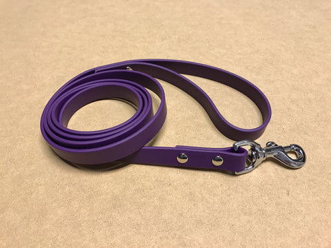 Argos Gear Purple Cretan Dog Leash - Leashes - Argos Dog Gear - Made in the USA - Guaranteed for Life - Ready for Every Adventure - Copyright all rights reserved
