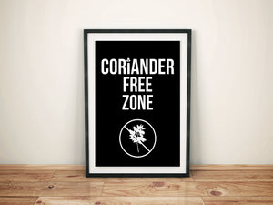 Coriander Free Zone Artwork