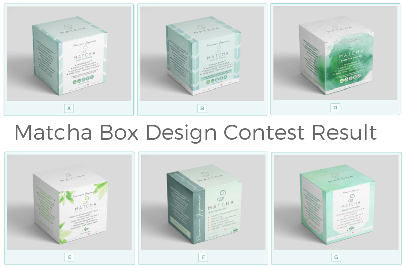 Matcha Box Design Contest Result