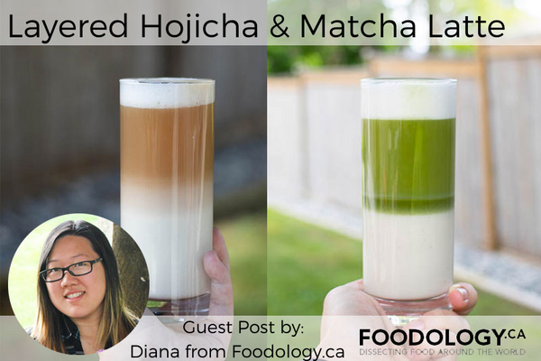 Layered Hojicha and Matcha Latte