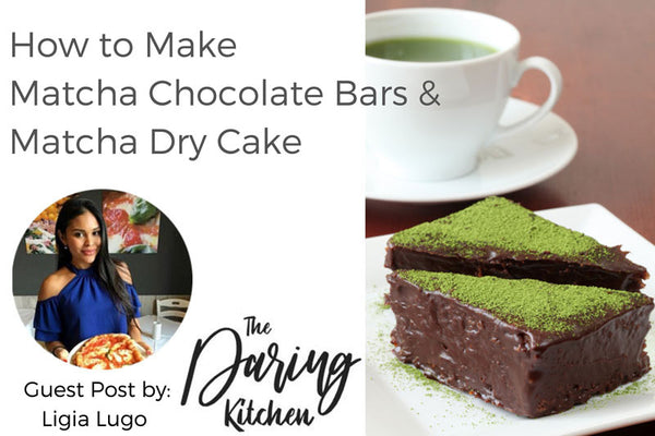 How to Make Matcha Chocolate Bars & Matcha Dry Cake