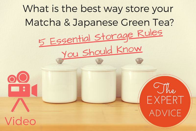 How to store Japanese green tea