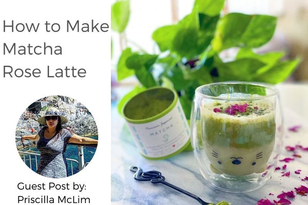 How to make Matcha Rose Latte