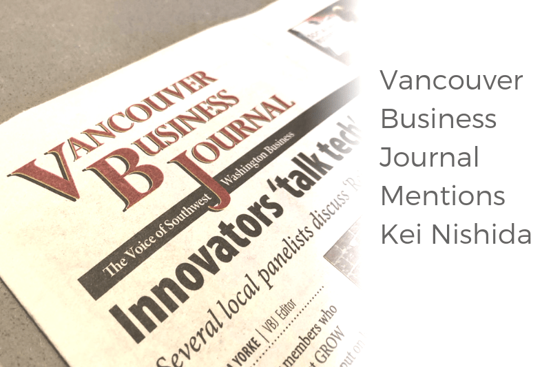 Vancouver Business Journal Mentions Kei Nishida