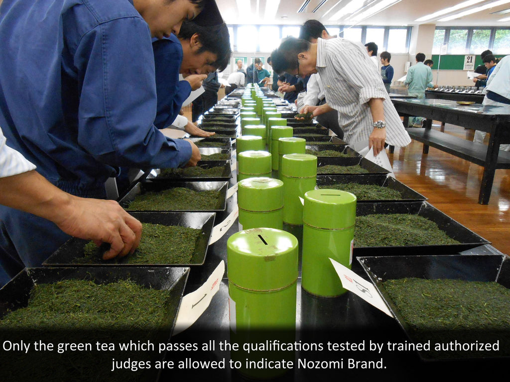Carefully examined Japanese green tea