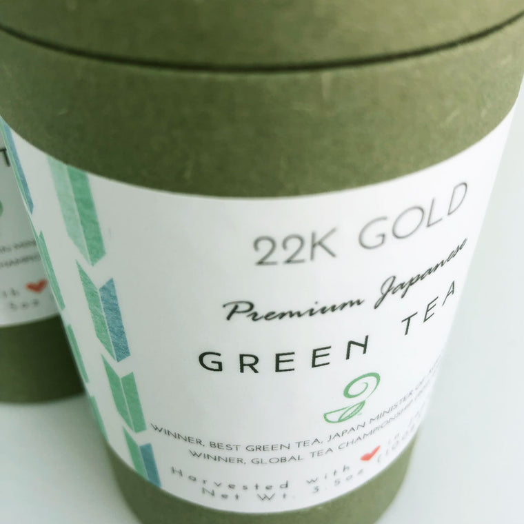 22k Gold Sencha Green Tea