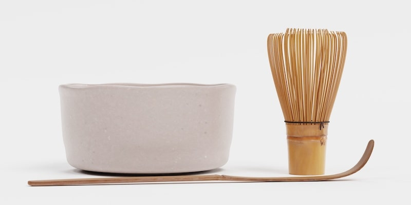 Chasen is a bamboo whisk for matcha green tea