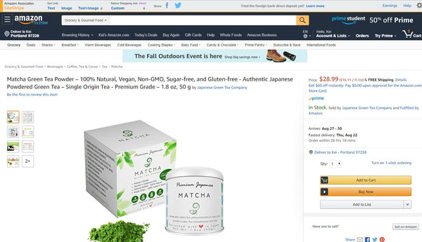 Japanese Green Tea Company Amazon Matcha
