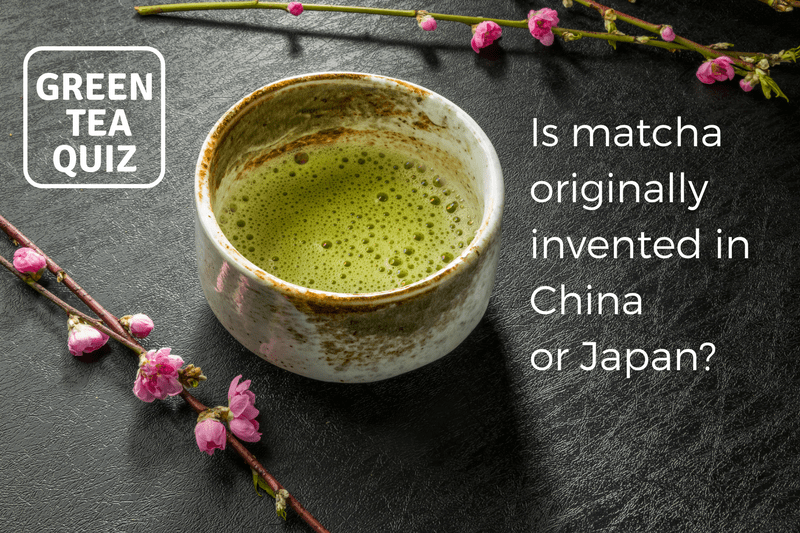 Is matcha originally invented in China or Japan?