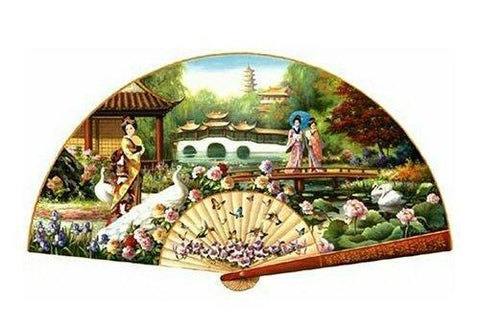 #19  Japanese Garden Shaped 1000-Piece Jigsaw Puzzle by T.C. Chiu – $65.00