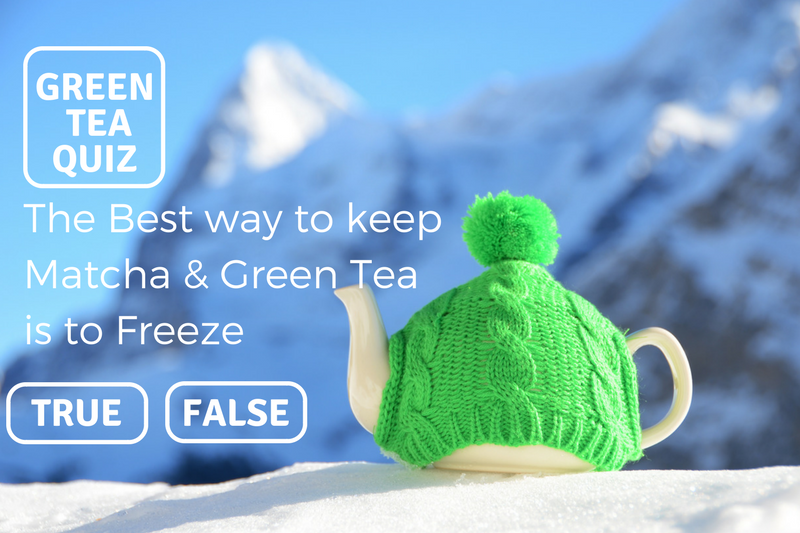 THE BEST WAY TO KEEP MATCHA & GREEN TEA IS TO FREEZE - TRUE OR FALSE? - GREEN TEA QUIZ