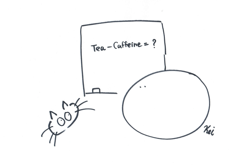 what is decaf tea - green tea comic