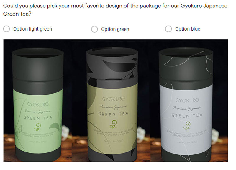 Gyokuro Question Survey for Package