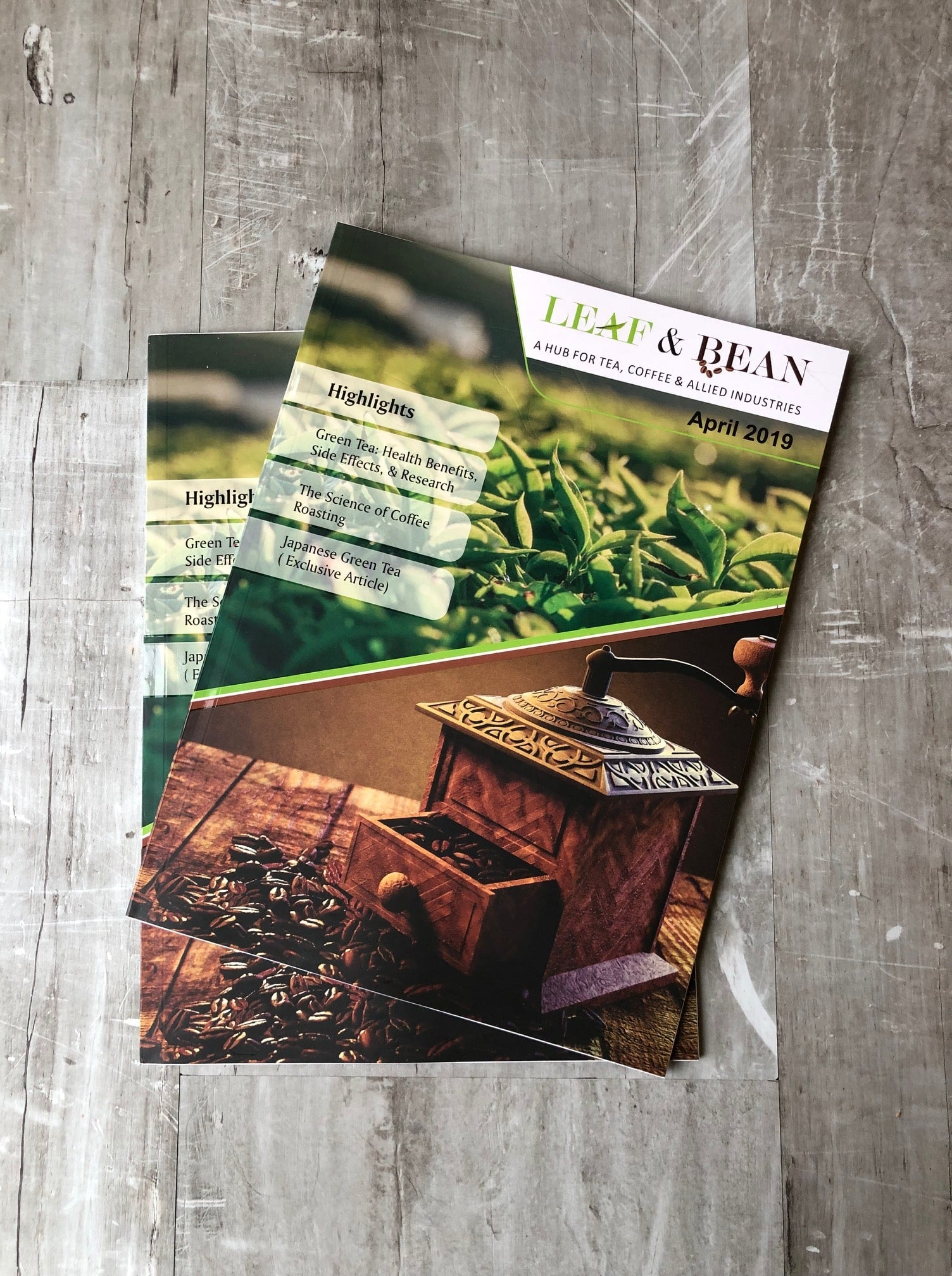 Leaf and Bean - Front cover - Japanese Green Tea Company
