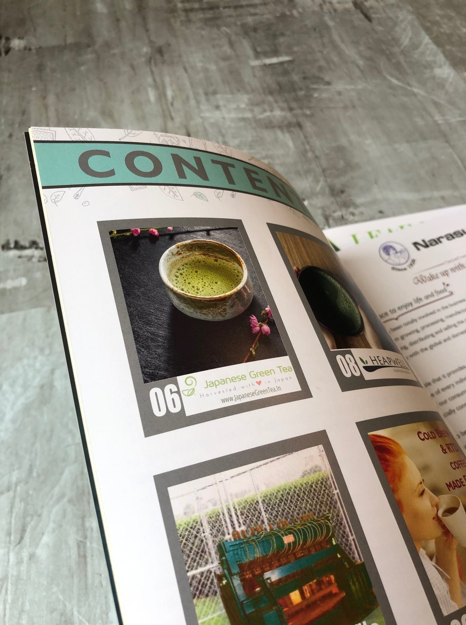Table of Contents - Leaf and Bean Magazine, Japanese Green Tea Company