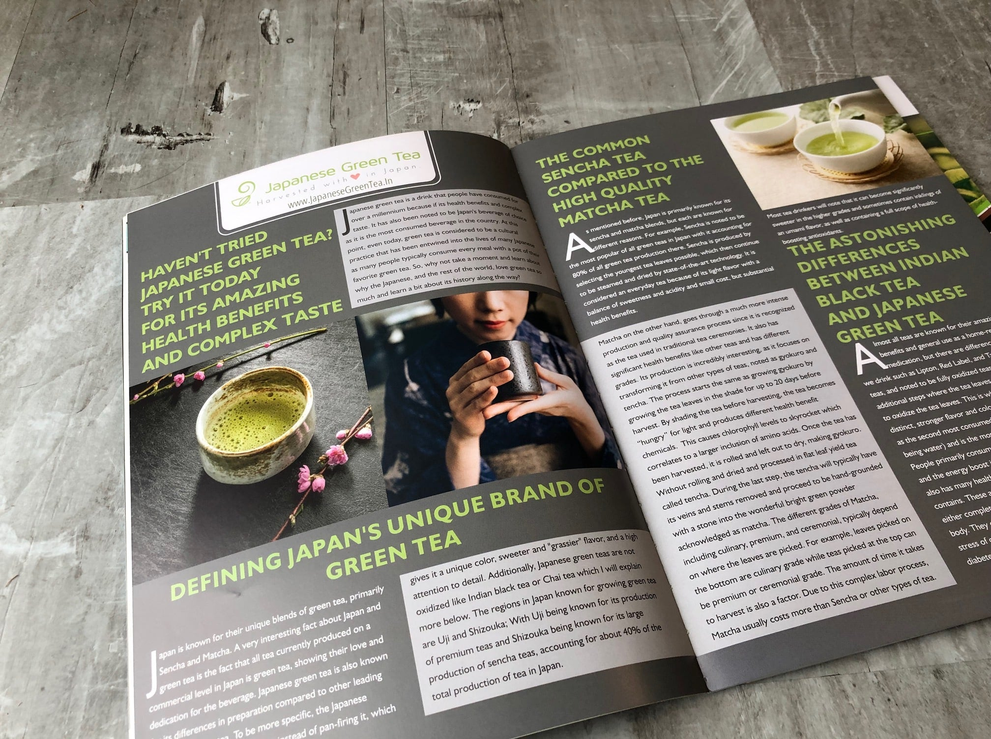 Japanese Green Tea Article in Leaf and Bean Magazine