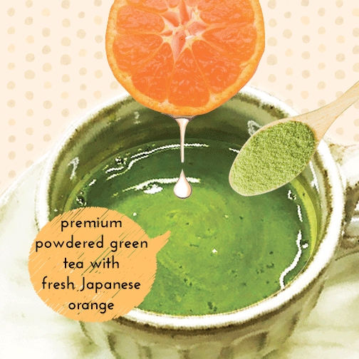 Premium Powdered Green Tea with Added Mikan (Japanese Orange) Powder