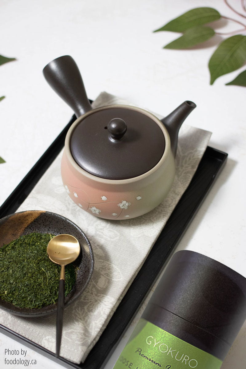 The Beginner Gift Set - Premium Japanese Green Tea and Japanese Tokoname Kyusu Teapot