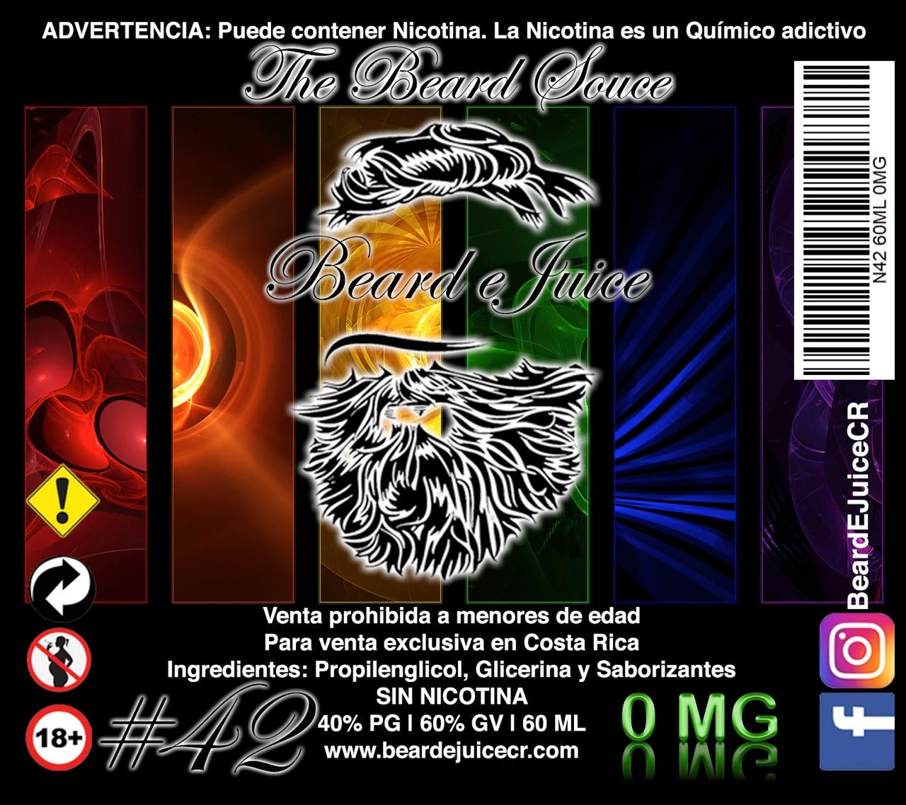 Liquido Beard EJuice N° 42 The Beard Souce