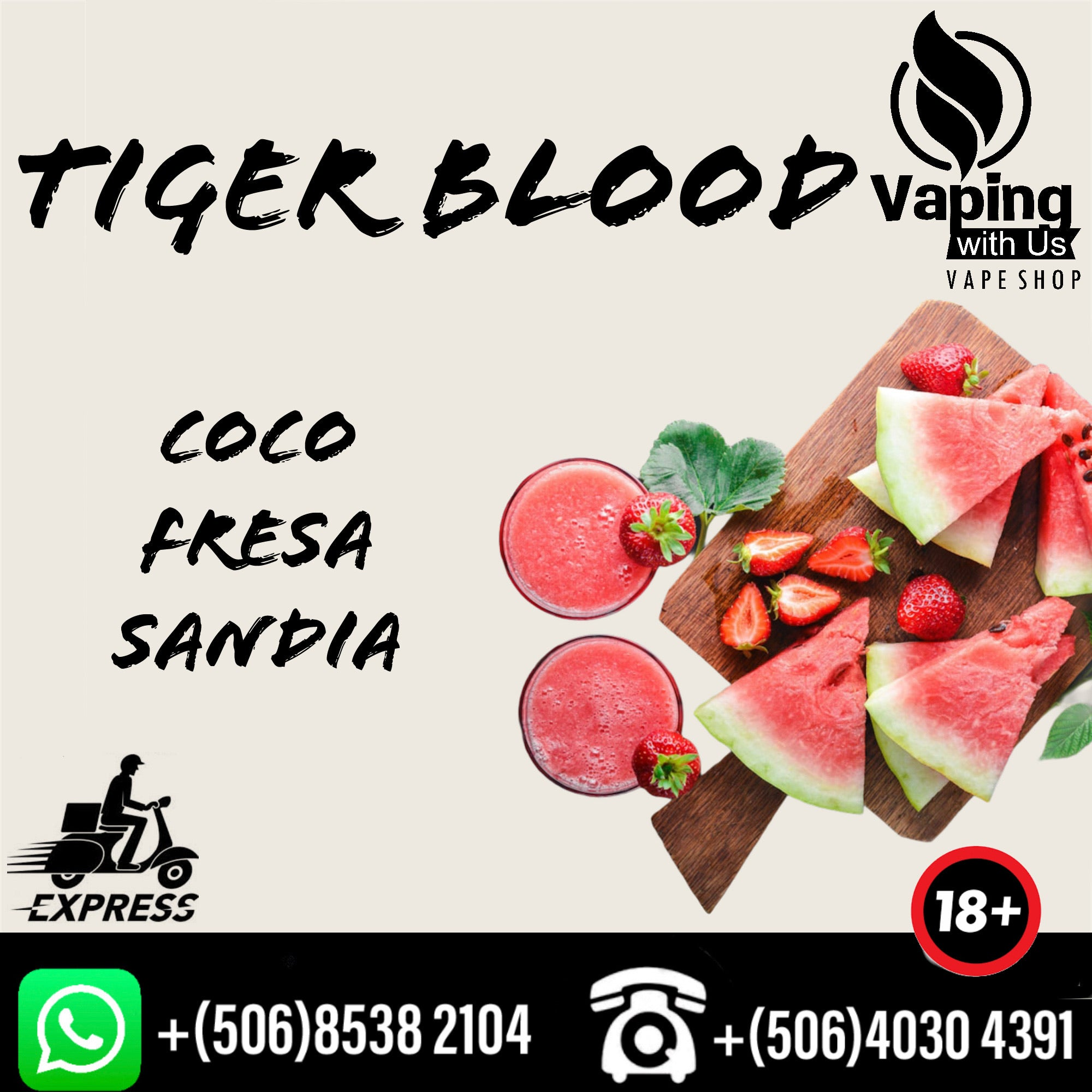 Nic Salts Pure Vape Tiger Blood