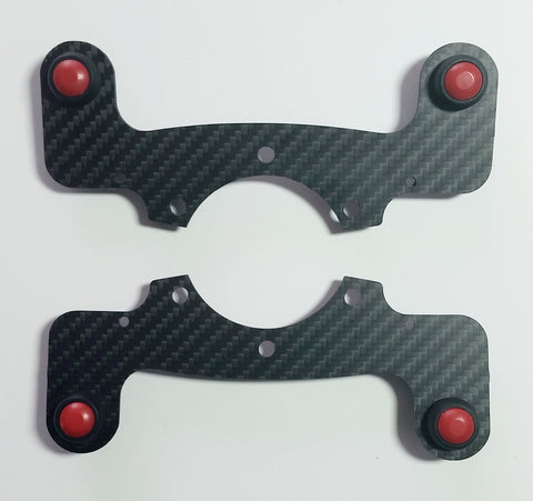 External Carbon Fiber Horn Button Kit with MATTE finish - Quad Button