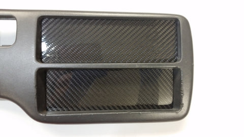 CARBON FIBER Climate Control /Radio Block Off Plate Del for Honda Civic EG 92-95
