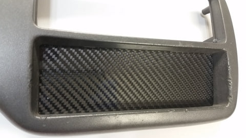 CARBON FIBER Single DIN Radio Stereo Console Block Off Plate Delete for Honda EG