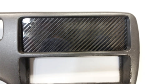 CARBON FIBER Climate Control Block Off Plate Delete for Honda Civic EG 92-95