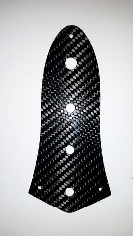 CARBON FIBER 4 Holes Control Plate for Fender JB Jazz Bass Guitar *MADE IN USA*