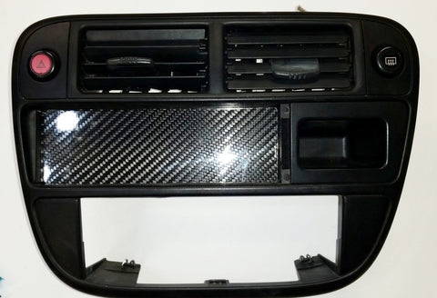 96-98 CIVIC RADIO CARBON FIBER BLOCK OFF DELETE COVER PLATE HONDA CX DX HX LX EX