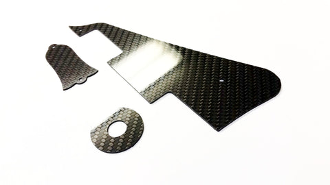 CARBON FIBER Pickguard Truss & Ring Kit For Gibson Les Paul, Les Paul Custom
