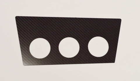 MW E30 CARBON FIBER (1984-1991) Gauge Pods Holder By Ash Tray Fits 3 52mm gauge